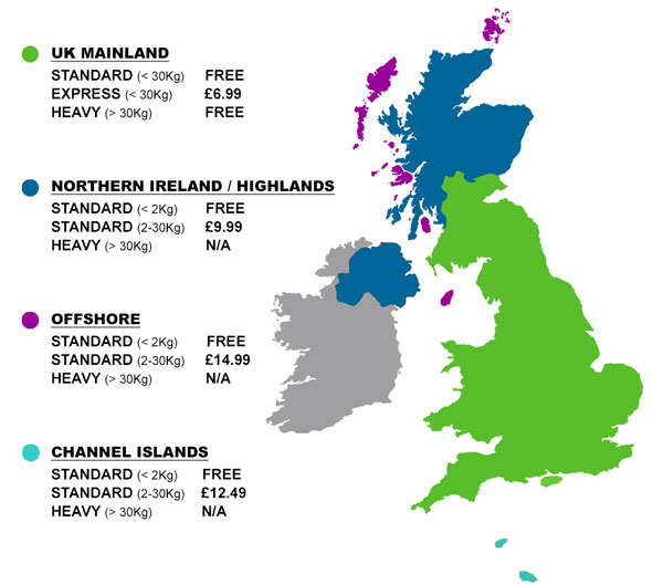 UK Delivery Zones